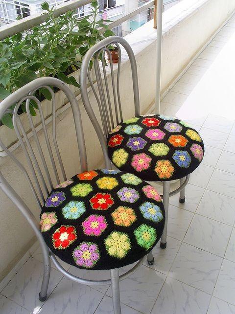 O que é tão brilhante? Idéias Teste padrão de flor Africano Crochet - Blog de Moda