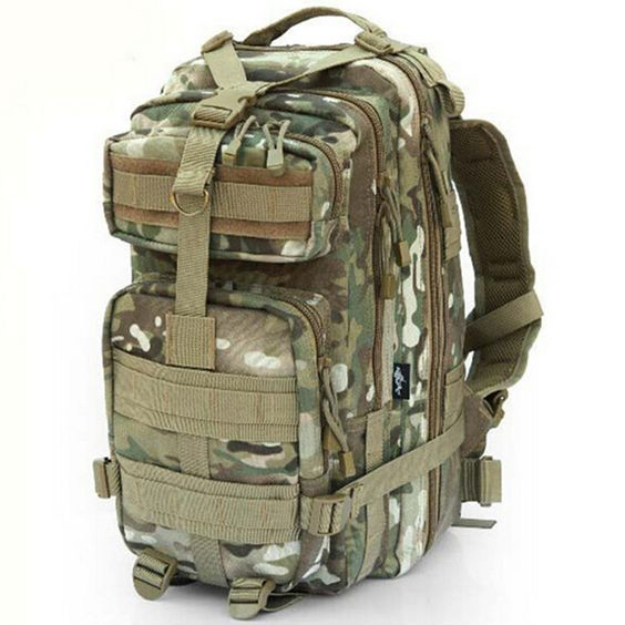 Camping Hiking Sport Camouflage Backpack