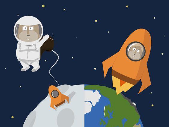 Space #squirrel by NIMIUS #illustration