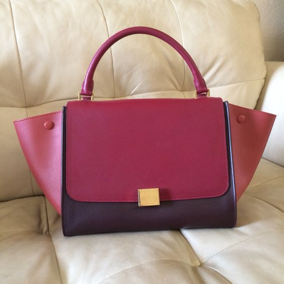 "c eline replica - Celine trapeze tricolor all leather ""blood"" 