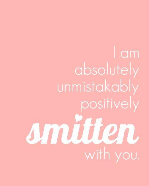 RP: www.OiGoi.com Nursery Art Print Smitten With You Love Quote by PaperPlanePrints