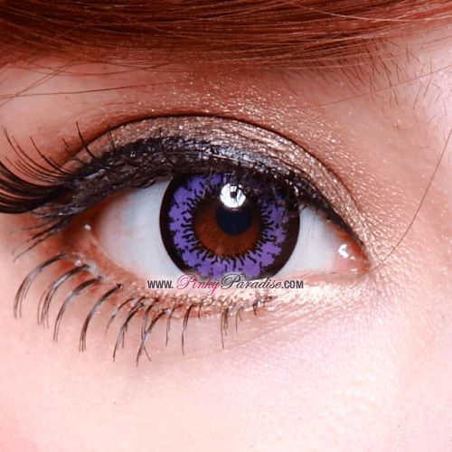 Geo Angel Violet Circle Lenses Close-up