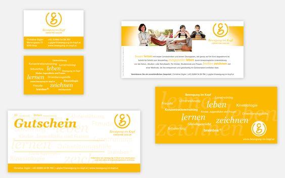 Visuelle Kommunikation und Website www.bewegung-im-kopf.at