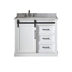 Ove Decors 40 W X 22 D Santa Fe Vanity And White Vanity Top With