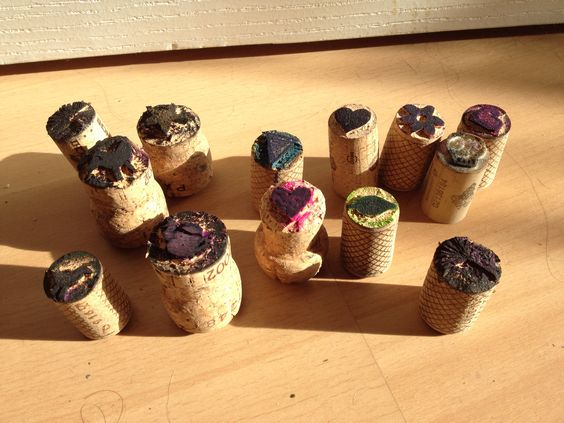More cork stamps