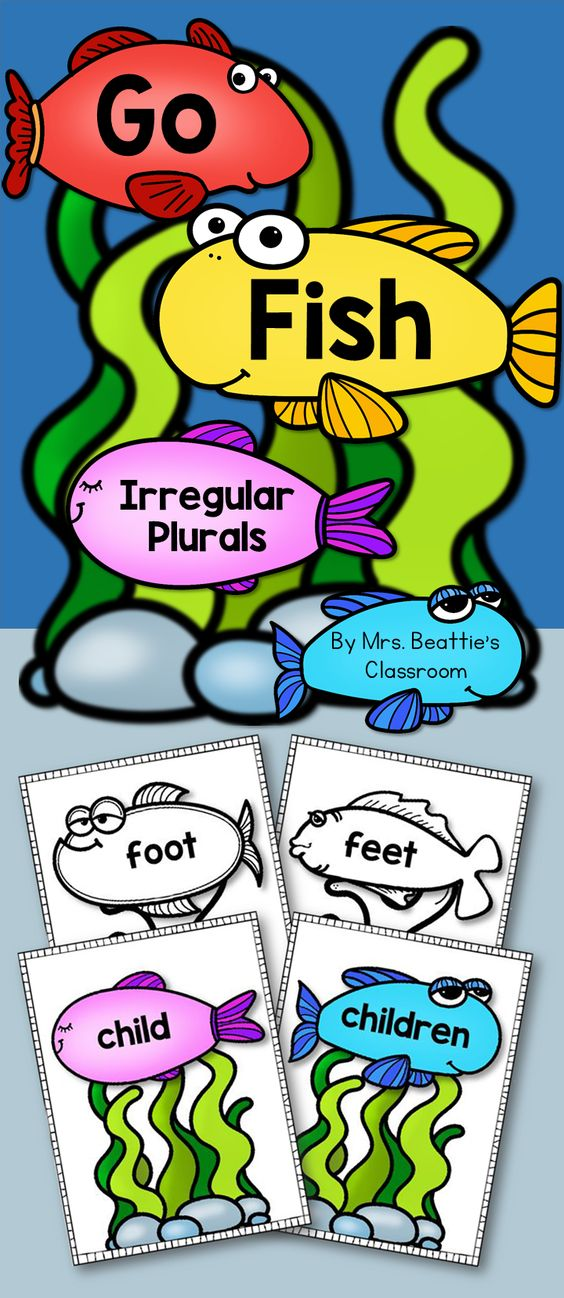 Irregular plural nouns activities student and style for Plural of fish
