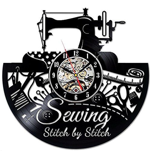 Sewing Machine Vinyl Record Wall Clock Great Idea For Tailor Outfitte Dressmaker Sewing Room Decor Hanging Wall Art My Sewing Room