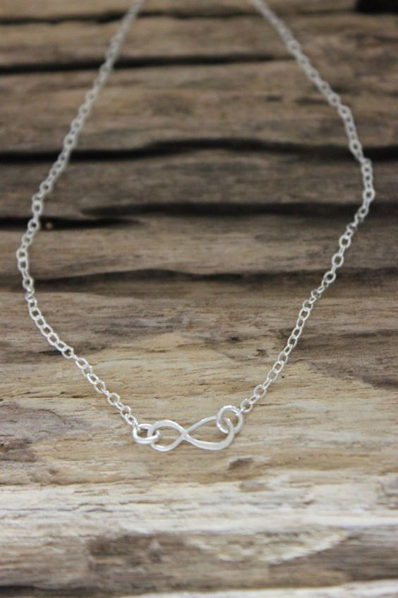 Infinity Necklace on Etsy, $35.00