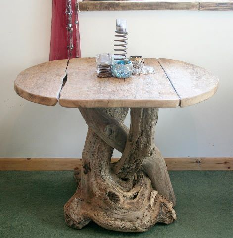 Driftwood furniture-pretty in the right setting