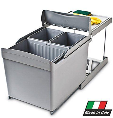 Pattumiera estraibile per cucina 3 secchi raccolta differenziata - Automatica, scorrevole -517 R.P. http://www.amazon.it/dp/B00CV32ASE/ref=cm_sw_r_pi_dp_qFNNvb06XSGZP
