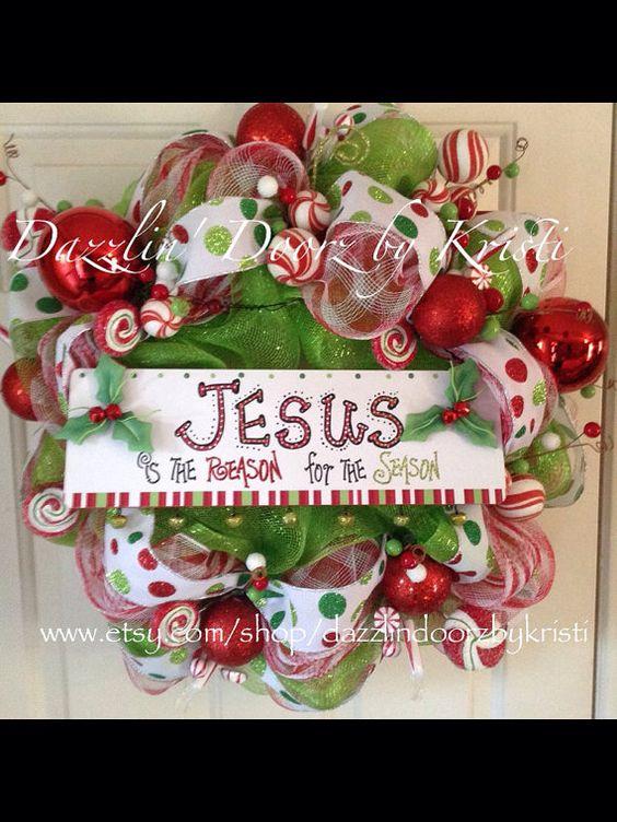 Jesus is the Reason Christmas Wreath
