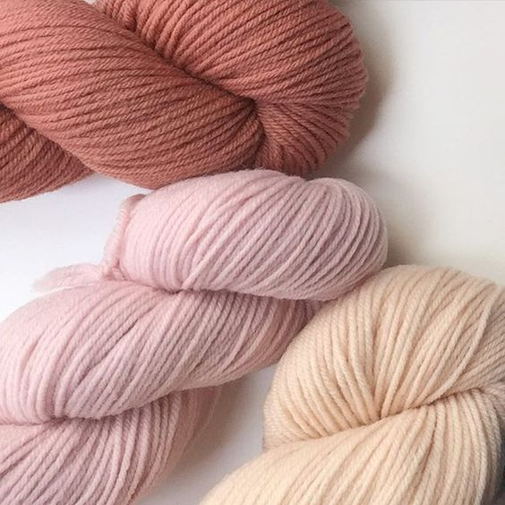 Rosey colors in Quince & Co. Finch. http://bit.ly/1PeUoNt