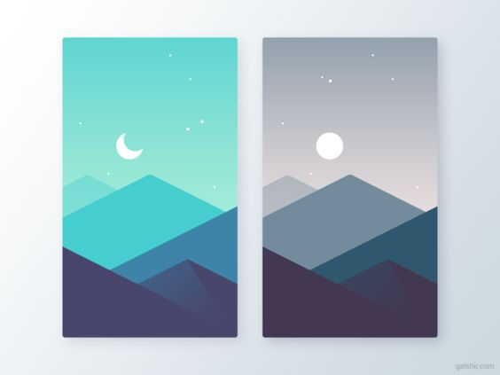 day and night? or is it sunrise and sunset?