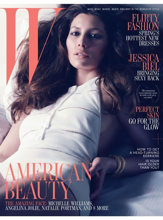 Jessica Biel on the cover of W Magazine #wmagazine #hair