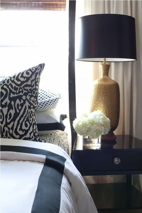 Navy Gold Design And White Curtains On Pinterest