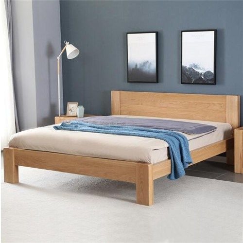Furniture Simple Design Double Bed Wooden Furniture Manufacture