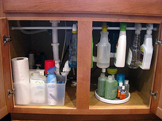 Eat. Sleep. Decorate.: Under the Sink {Organization}