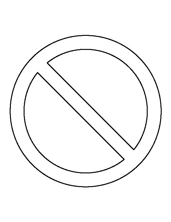 No sign pattern. Use the printable outline for crafts ...