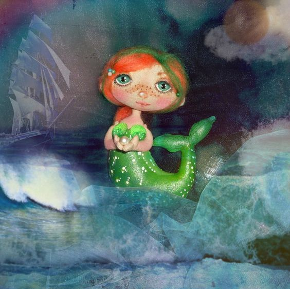 Textile the little mermaid by Nadin Levkina