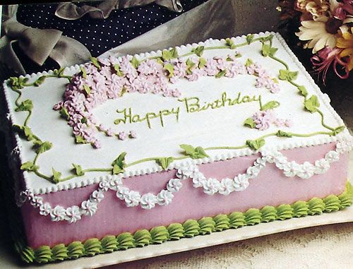 Spring Birthday Cake  - with lilacs - icing piping buttercream **for directions go to http://oldrecipebook.com/cakes/springbirthdaycake-deco.jpg