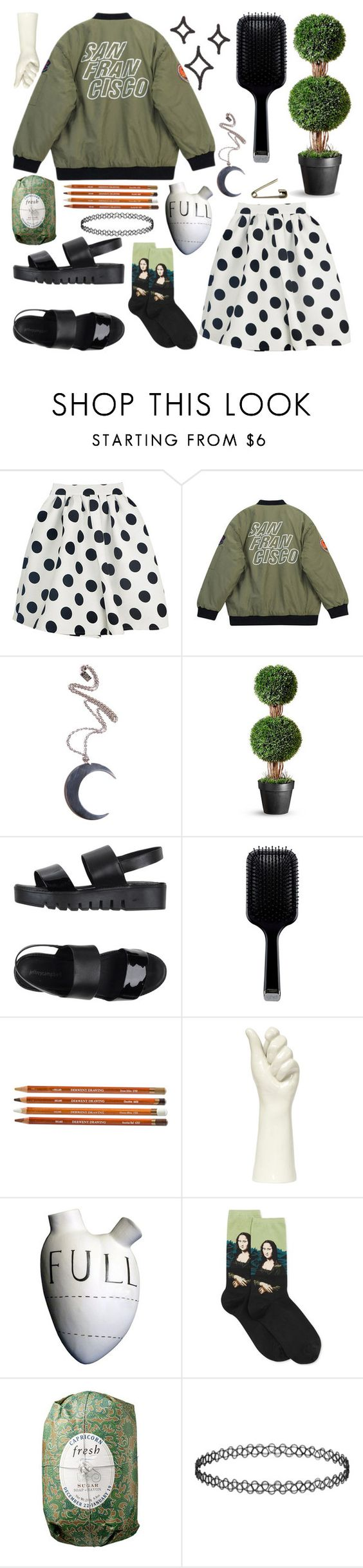 """""""// about as subtle as an earthquake."""" by maddie-the-dog ❤ liked on Polyvore featuring Chicnova Fashion, Kill Star, Jeffrey Campbell, GHD, FOS, HOT SOX and Fresh"""