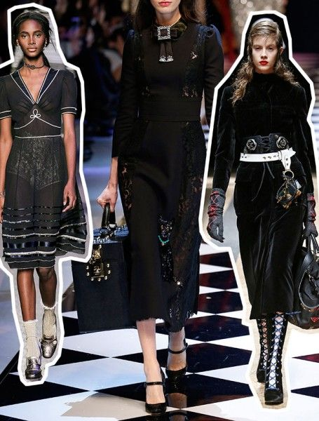 Bruxas tipo Mary Poppins - já vem até com uma bolsa mágica! Tommy Hilfiger, Dolce & Gabbana e Prada