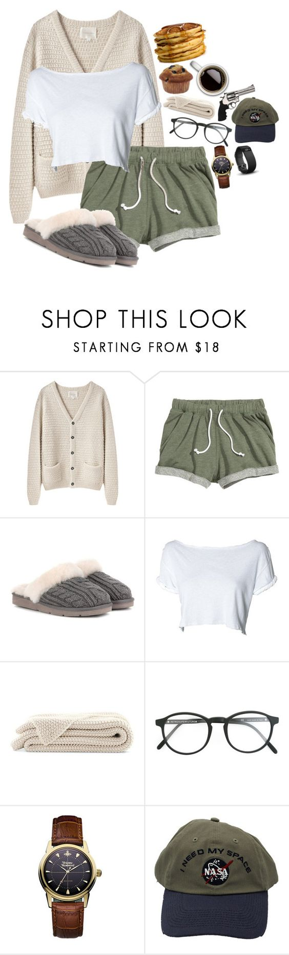"""""""Kristen Costello"""" by darlingzombie ❤ liked on Polyvore featuring La Garçonne Moderne, UGG, RetroSuperFuture, Revolver, Vivienne Westwood and Fitbit"""