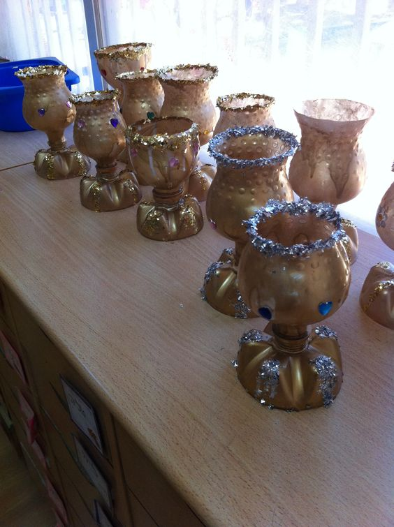 Elijah s cup craft made from empty water bottles diy for Empty bottle craft