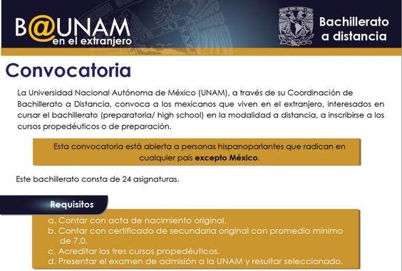 #Recuerda:   Si radicas en el extranjero tienes hasta el Domingo 13 de Enero para registrarte al bachillerato #BUNAM Revisa la convocatoria: www.bunam.unam.mx