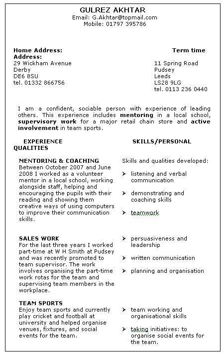 Skills Based Resume Example Google Search Resume Skills