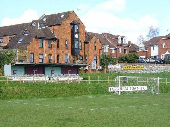 Memorial Ground, Farnham Town FC. Combined Counties League Premier Division.