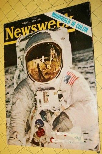 Newsweek Magazine Moonwalk Edition, 1969 August 11th $7.00