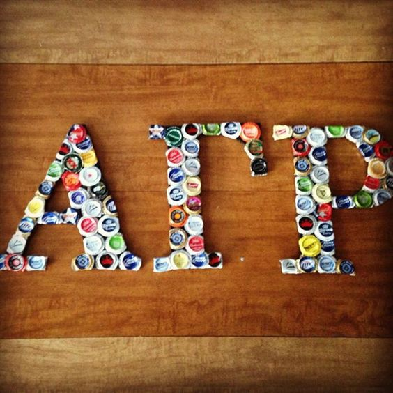 Not a cooler, I know, but just an idea that COULD be added onto a cooler. (:  It's super easy! I just bought wooden letters, painted them with acrylic paint. I bent out the edges w/a needle-nosed pliers & them smashed them with a hammer! You'll kinda have to plan out how you're gonna layer all of them on before you do it so you don't end up with awkward spaces that can't be filled. The edge ones just have to be bent however you want them to fit before you glue them down. &I just used hot…