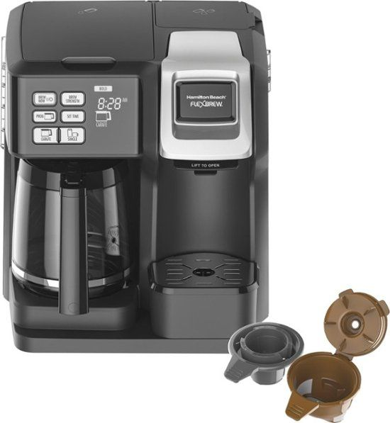 Hamilton Beach Flexbrew 12 Cup Coffee Maker Black 49976 Single Coffee Maker Hamilton Beach Coffee Maker Coffee Maker