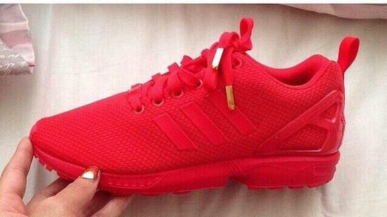 all red adidas zx flux