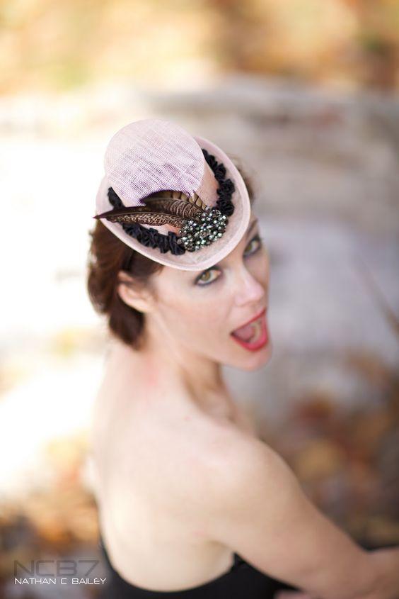 LaCocoRouge - Custom Designs: Pink Steampunk mini top hat