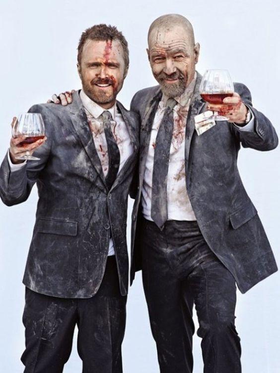 Les plus beaux frères ennemis : Aaron Paul & Bryan Cranston   Entertainment Weekly