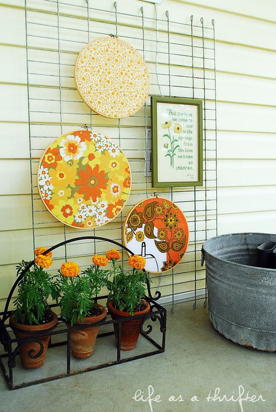 cute idea for the porch!