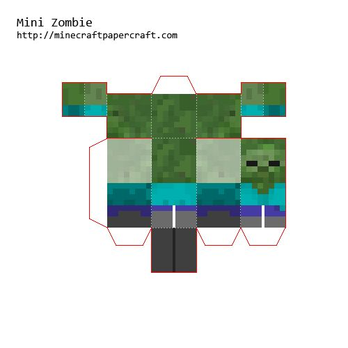 Minecraft papercraft all minis minecraft papercraft mini - Zombie style minecraft ...