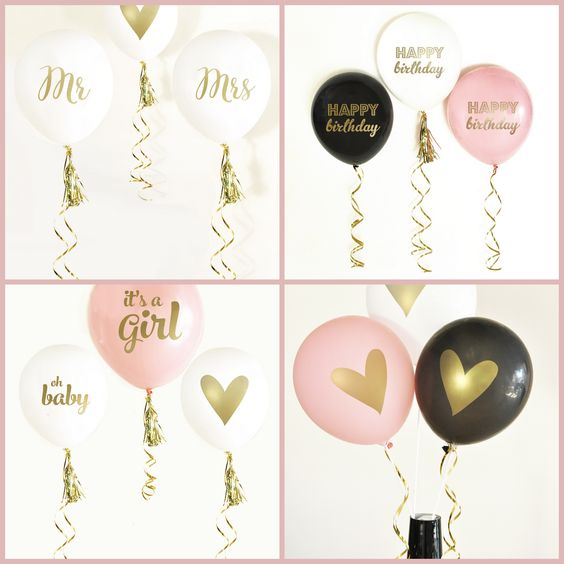 Metallic Gold Balloons from HotRef.com