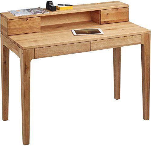 http://ift.tt/1Rv5X4h HomeTrends4You 612522 Schreibtisch 105 x 76/96 x 55 cm Wildeiche massiv geölt mit Schubladen #lilolp$#