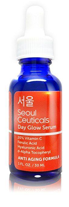 Seoul Ceuticals Korean Skin Care - 20% Vitamin C Hyaluronic Acid Serum + CE Ferulic Acid Provides Potent Anti Aging, Anti Wrinkle Korean Beauty 1oz