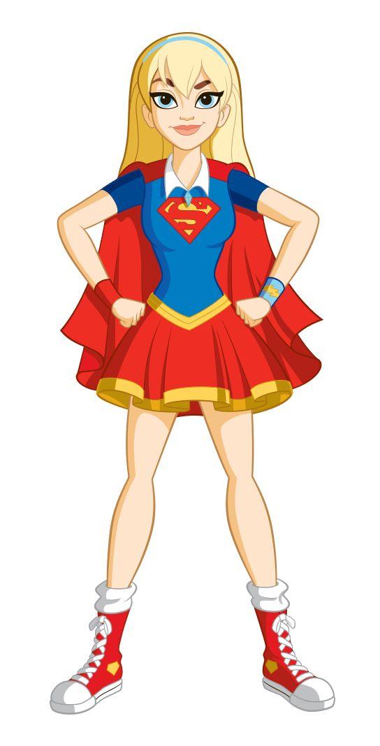 Cartoon girl superheroes
