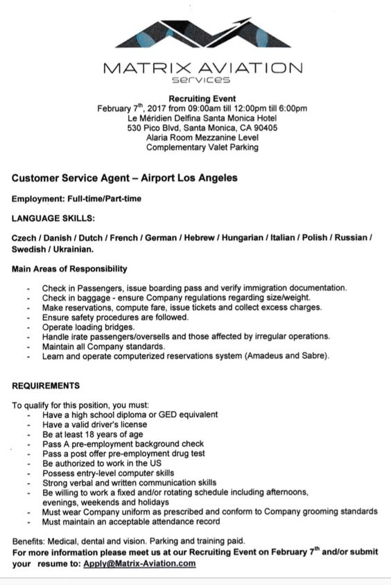Pin by Matrix Aviation Services Inc on Jobs Pinterest Aviation - airport passenger service agent sample resume