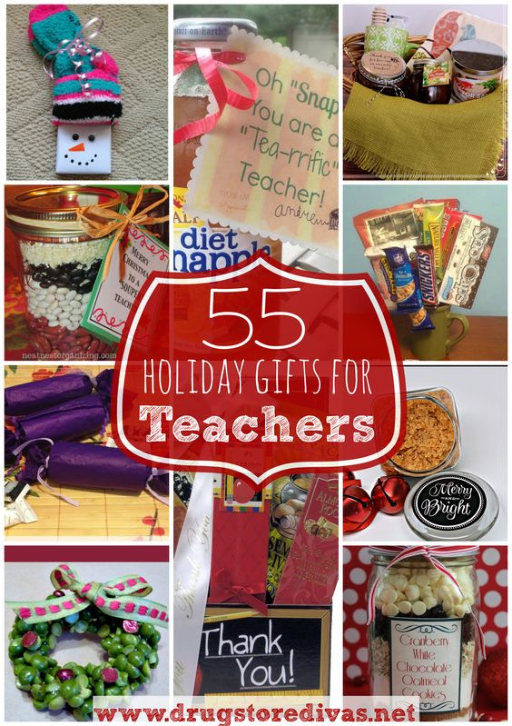 Have a special teacher you need a gift for? Check out this list of 55 gifts for teachers from www.drugstoredivas.net.