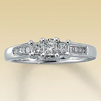 Actually, this is perfect for the wedding ring/band.: Rings Jewelry, Diamond Rings, Beautiful White, Dream Wedding, Wedding Rings, My Engagement Ring, White Gold Diamonds, Future Wedding, Engagement Rings
