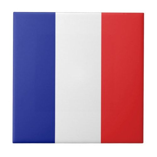 Flag Of France French Tricolore Tile Zazzle Com France Flag French Tricolor French Flag