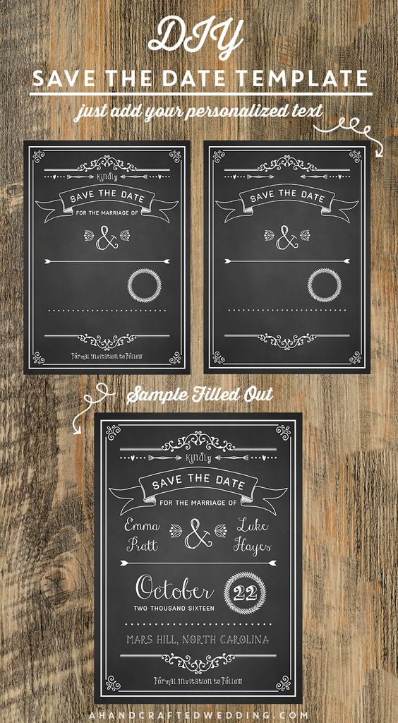 Save the date templates diy save the dates and save the for Diy save the date magnets template