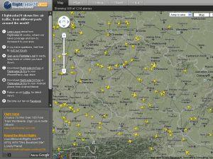 Letový provoz http://www.flightradar24.com/50.08,14.42/7