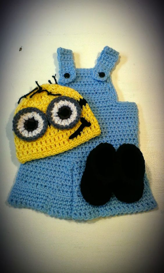 Crochet Patterns Minions Despicable Me : Free pattern, Minion crochet and Minions on Pinterest